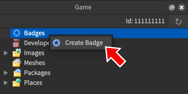 Badges Special Game Awards