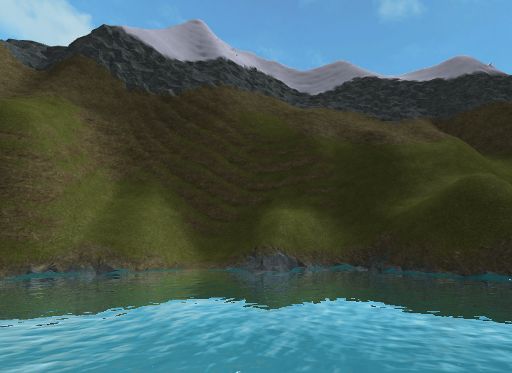 An example of Roblox terrain