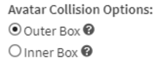 Collision Options in Game Settings