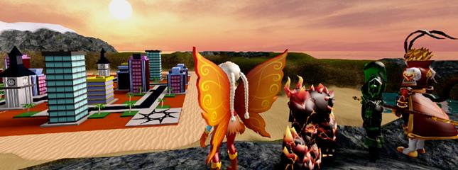 Roblox avatars destroying a city