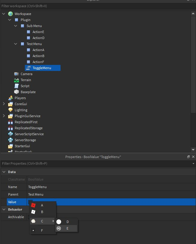 Example Plugin in Studio Explorer Window